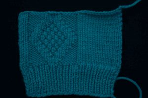 Mock Cable and Moss stitch